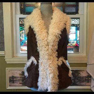 INC Faux Shearling Vest